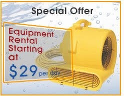 Water Damage Equipment Rental in Costa Mesa